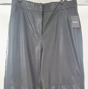 DKNY Women's Leather Culotte Pants